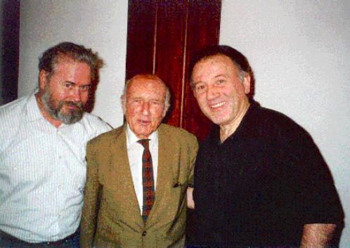 Heinz von Förster with Peter Weibel and Werner - Jimmy DePauli-Schimanovich in Las Palmas in November 1996, IFSR Newsletter 1997 Vol 16 No 1 April