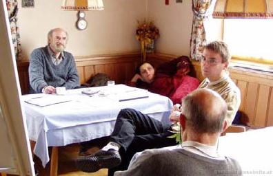 Arne Collen, Farah Lenser, Christian Hofer, Ernesto Grün, Fuschl Conversation 2004, IFSR Newsletter 2004 Vol. 22 No. 1 October
