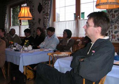 Christian Hofer in the plenary session, Fuschl Conversation 2004, IFSR Newsletter 2004 Vol. 22 No. 1 October