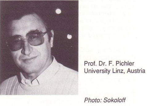 Professor Dr. Franz Pichler, University Linz, Austria, IFSR Newsletter 1993 Vol. 12 No. 2 (30) August,