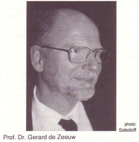 IFSR Newsletter 1993 Vol. 12 No. 3 November Professor Dr. Gerard de Zeeuw