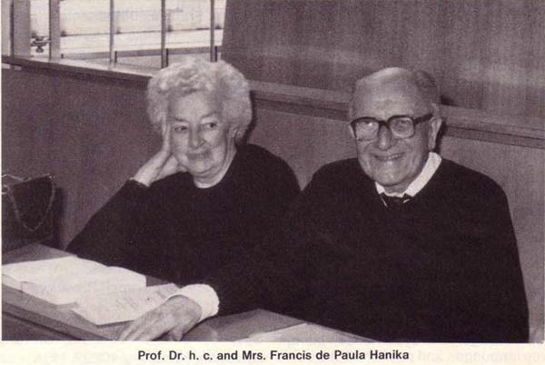 IFSR Newsletter 1985 Vol. 5 No. 1 Summer, Professor Dr. H.C.  Francis de Paula Hanika