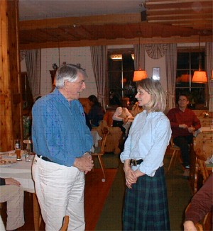 IFSR Fuschl Conversation 2004: Gordon Dyer with our hostess, Ms. Idinger
