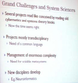 Ross Ashby Memorial Lecture, Grand Challenges for Computer Science Research, IFSR Newsletter 2010 Vol 27 No 1 June