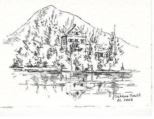 Schloß Fuschl at  Lake Fuschl