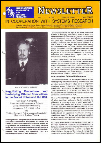 The Newsletter receives another face-lift (1991), IFSR Newsletter 2006 Vol. 24 No. 1 November