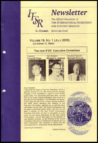 A new layout is chosen for the newsletter (2000), IFSR Newsletter 2006 Vol. 24 No. 1 November