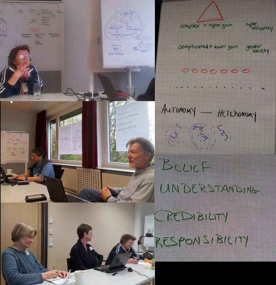 Figure 1a Team 1 – working at IFRS Conversations 2012 at Linz, Austria
