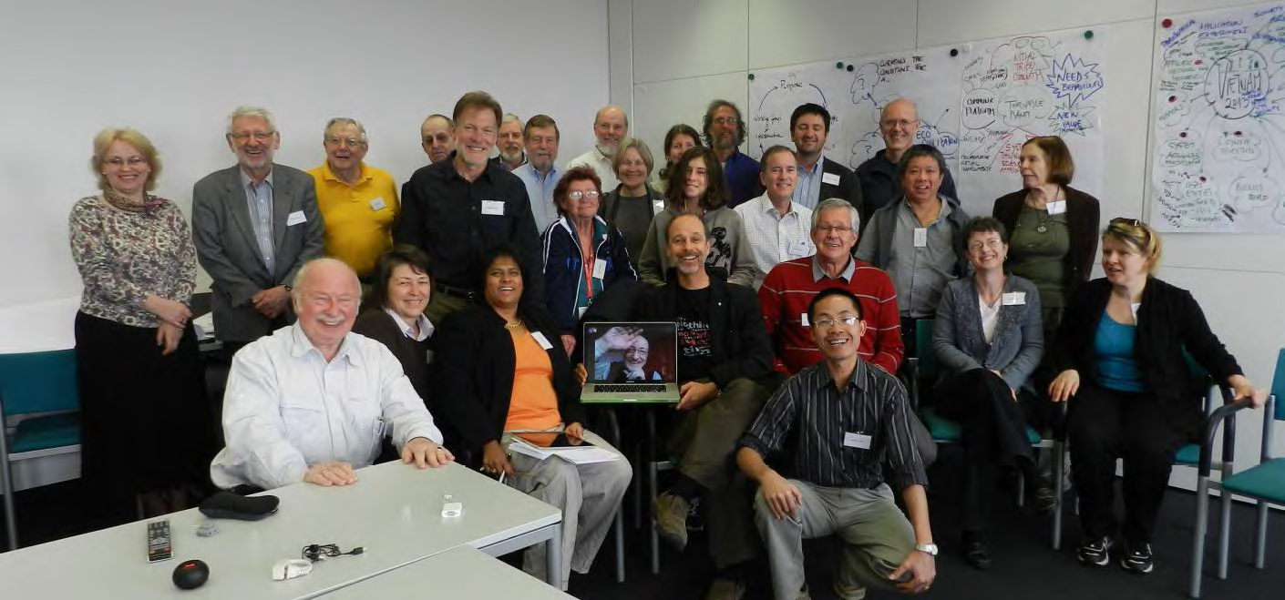 Some IFSR 2012 Conversation attendees. St. Magdalena, Linz, Austria
