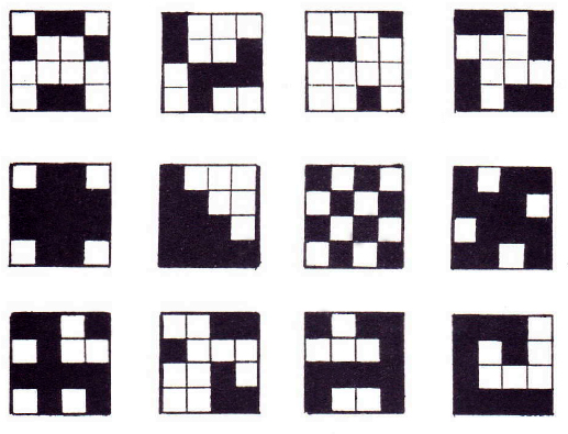Figure 3: Examples of TOB patterns, Prof. Dr. Magoroh Maruyama, Tokyo, IFSR Newsletter 1993 Vol. 12 No. 2 (30) August