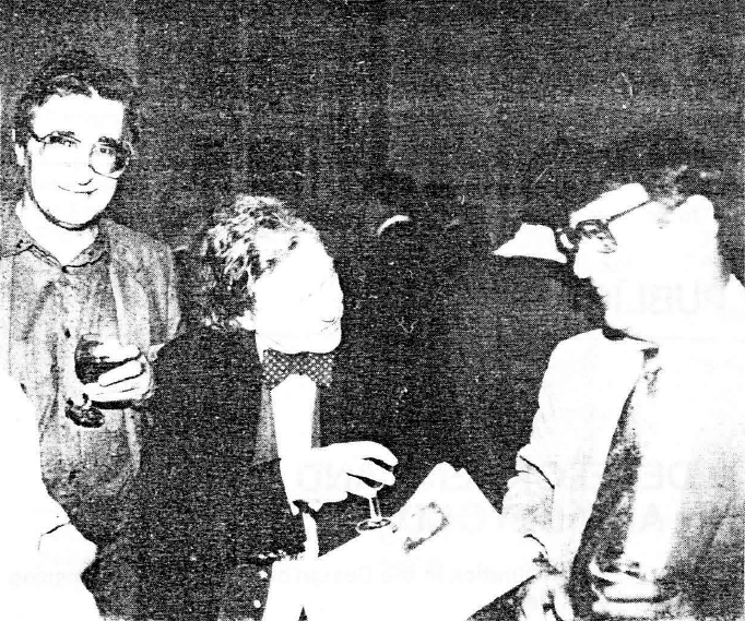 Professor Franz Pichler (left) Gordon Pask (middle) and Wayne Wymore (right, with necktie), IFSR Newsletter 1988 no. 2 (18)
