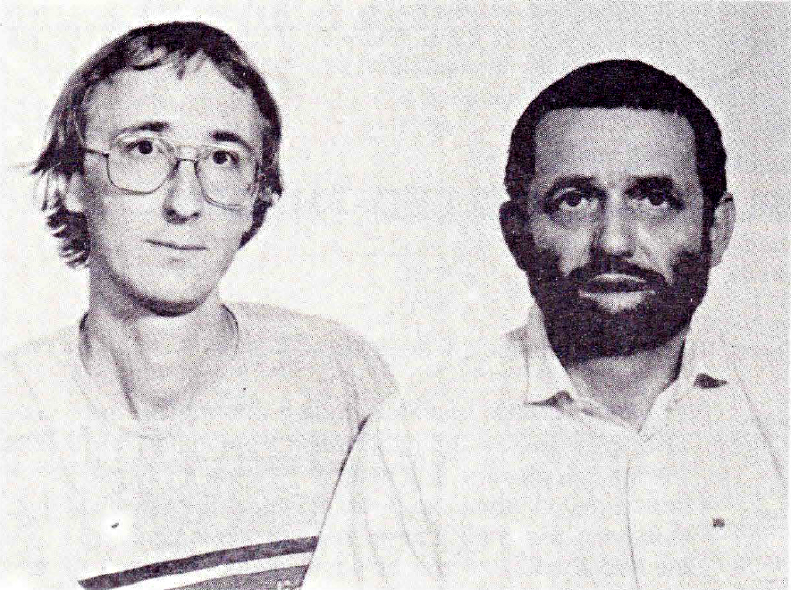 Dr. Gyorgy Kampis and Prof. Vilmos Csanyi (with beard), IFSR Newsletter 1988 No. 4 Oct/Nov